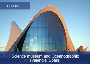 Link to Ciudad FCC, Museum of Arts and Sciences and Oceanographic Valencia, Spain (Opens in a new tab)