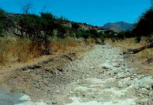 Las Chilcas riverbed - totally dry